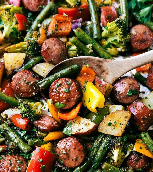 Sausage and Vegetable dish
