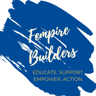 Fempire Builders written on blue background