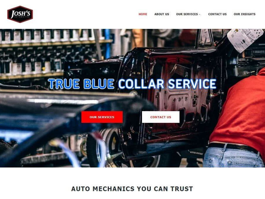 josh's automotive website