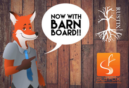 now with barn board - SlyFox Web Design and Marketing