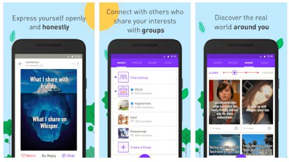 new social sites whisper app image