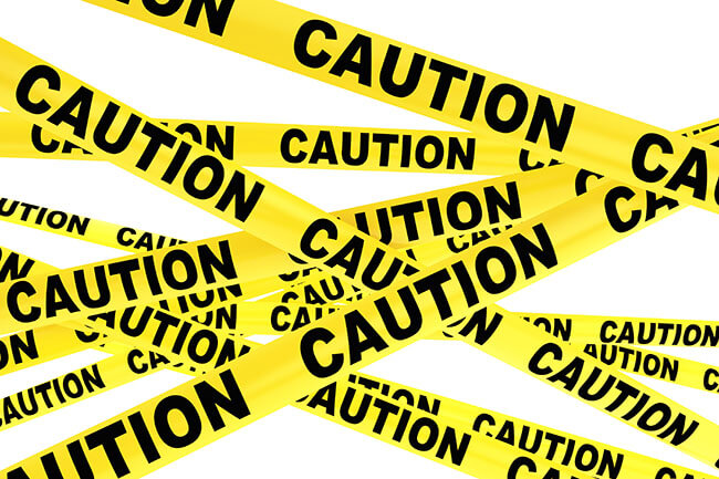 caution tape - SlyFox Web Design and Marketing