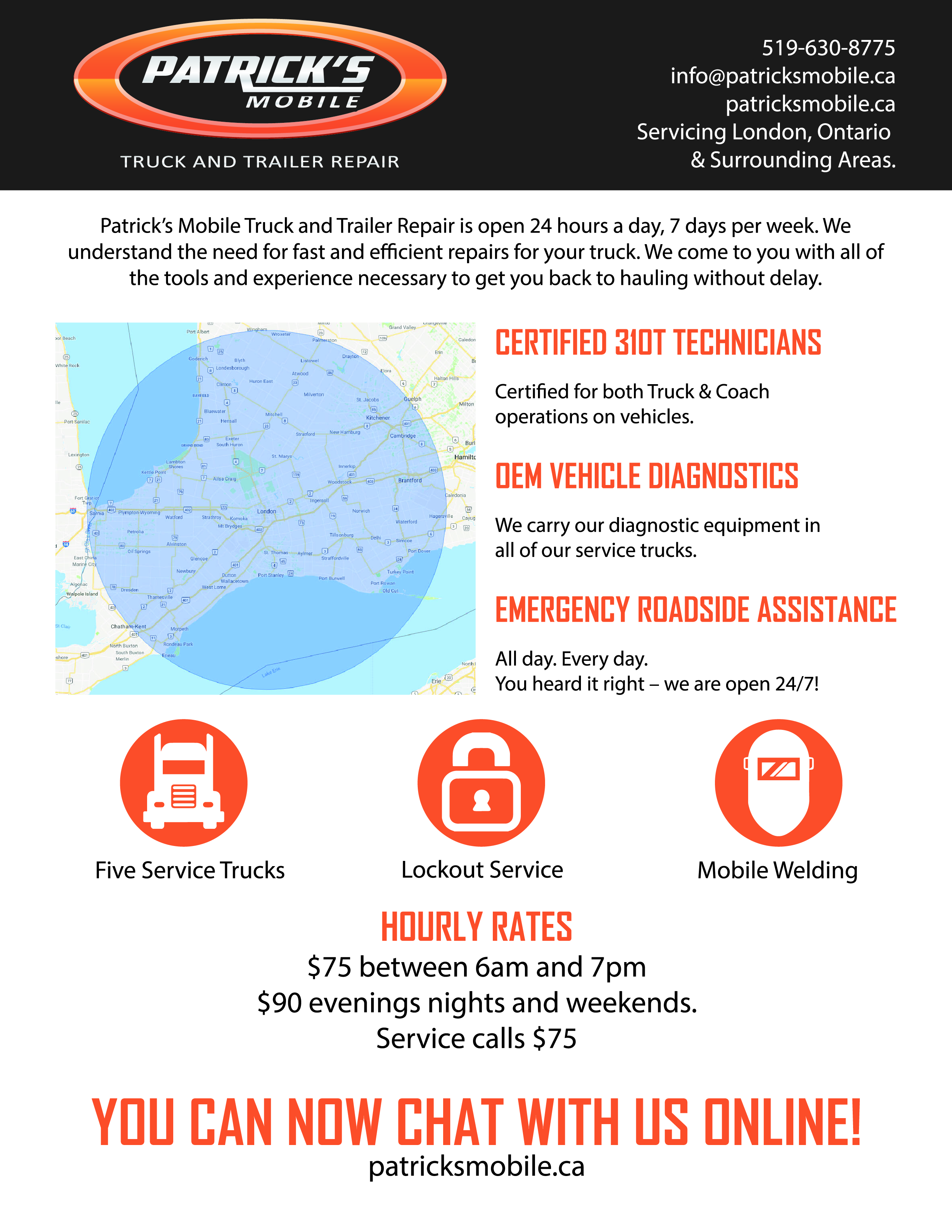 Patrick's Mobile Flyer - SlyFox Web Design and Marketing