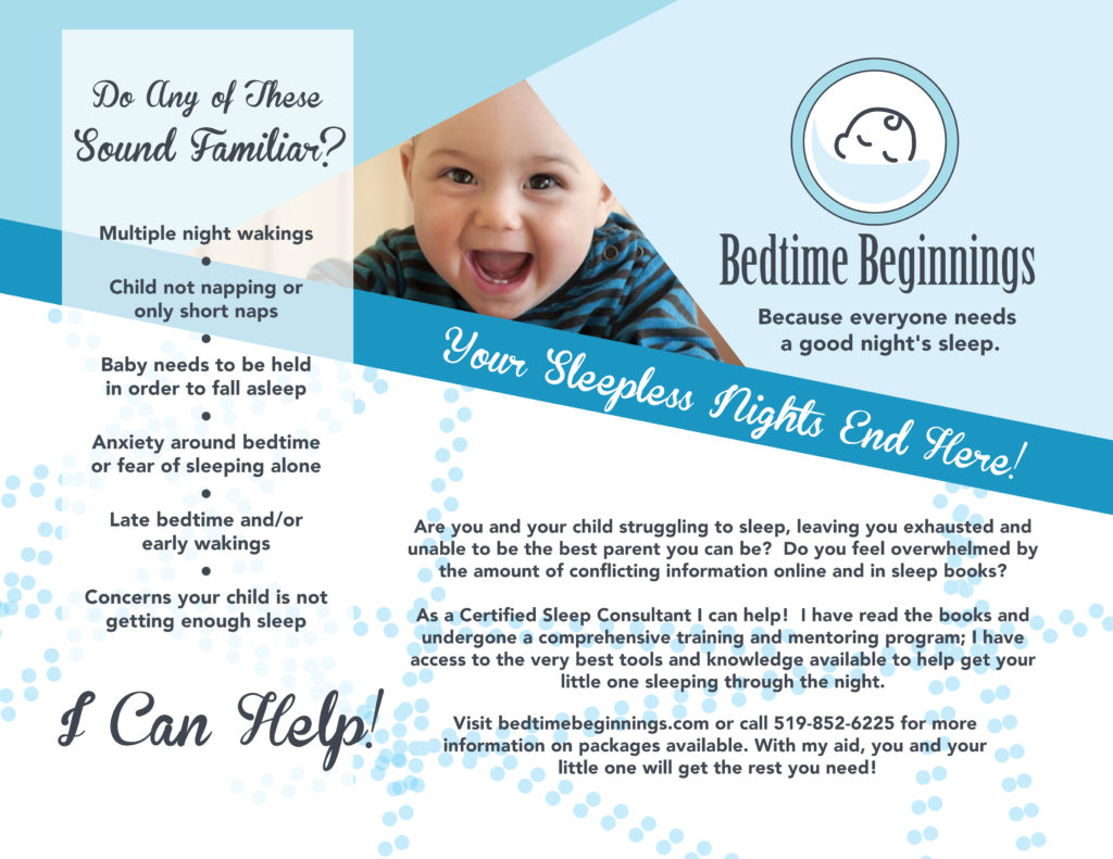 Bedtime Beginnings Flyer - SlyFox Web Design and Marketing