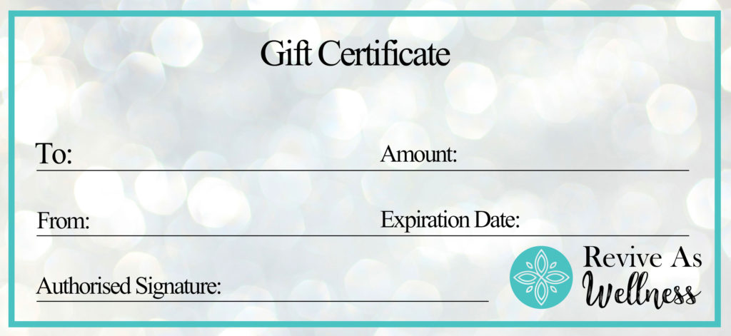 Revive As Wellness Gift Certificate