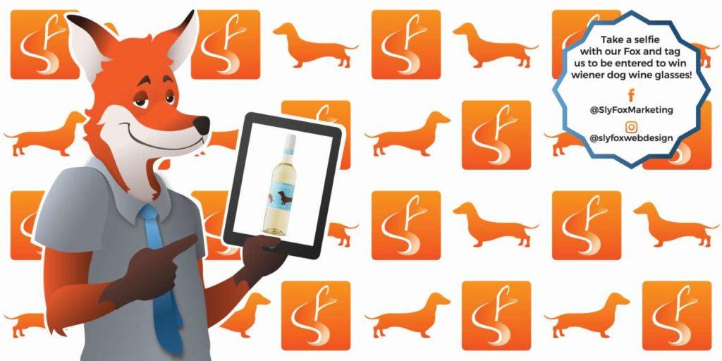 slyfox marketing and web design contest wiener dog wine glasses - SlyFox Web Design and Marketing