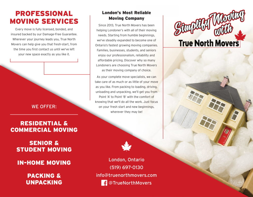 True North Brochure Trifold Design Sly Fox - SlyFox Web Design and Marketing