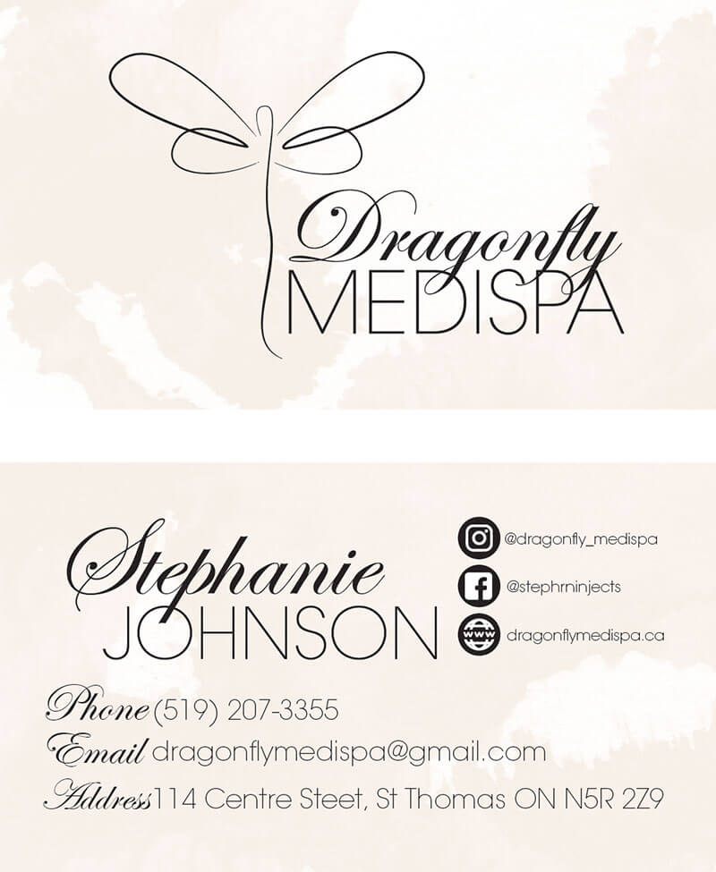 Dragonfly Medispa Business Cards