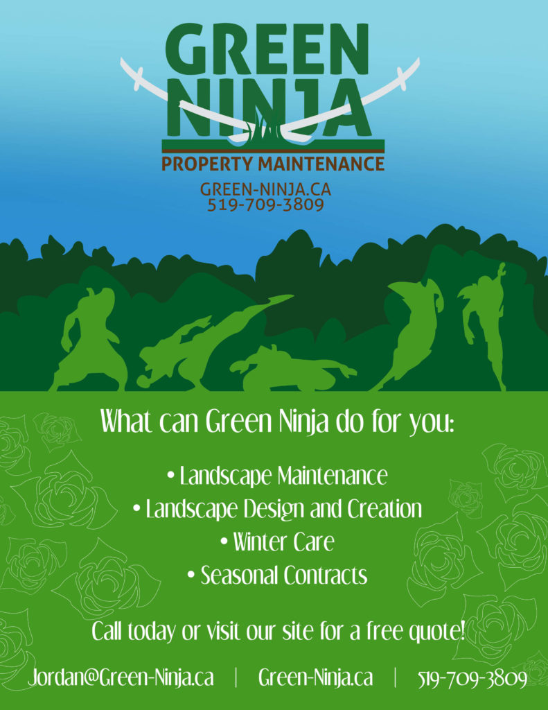 green ninja property maintenance poster landscape maintenance landscape design and creation winter care seasonal contracts - SlyFox Web Design and Marketing