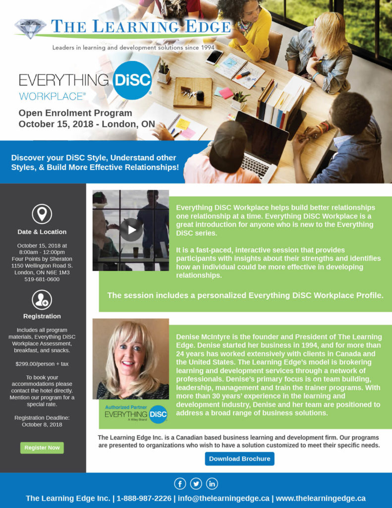 the learning edge open enrollment program poster - SlyFox Web Design and Marketing