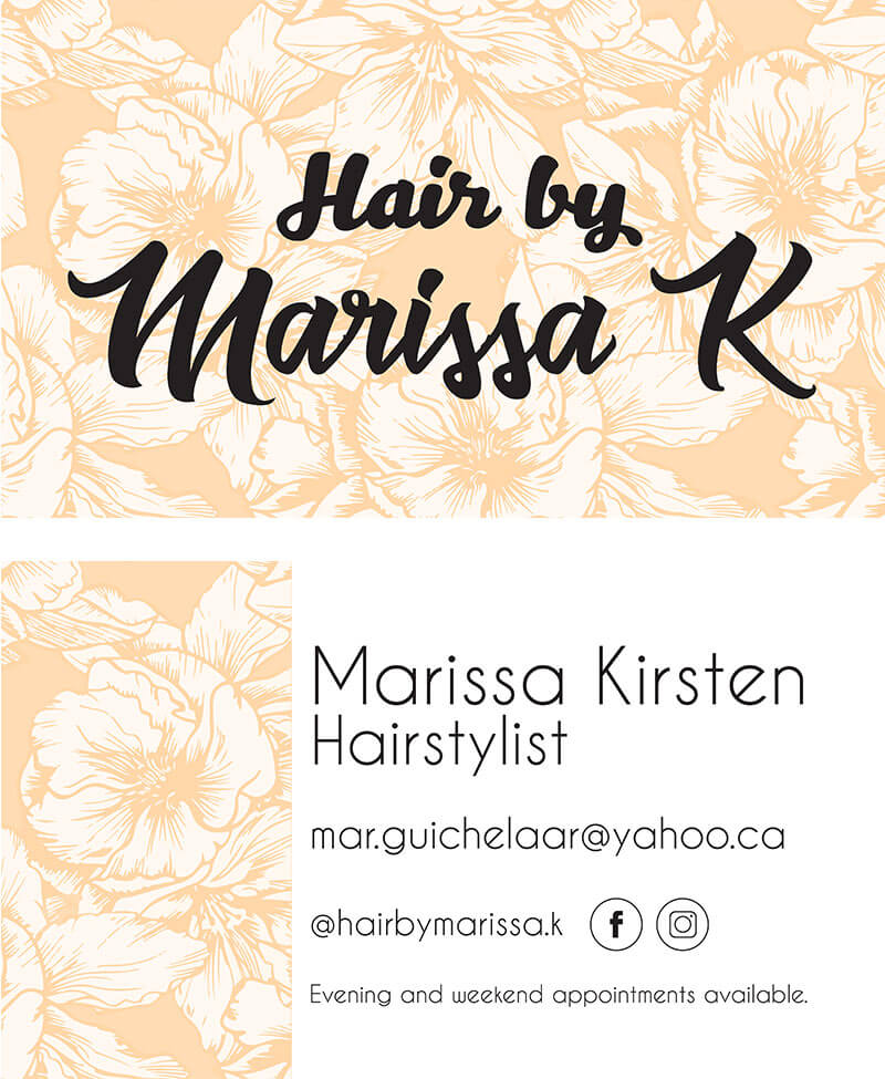 hair by marissa k poster hairstylist - SlyFox Web Design and Marketing