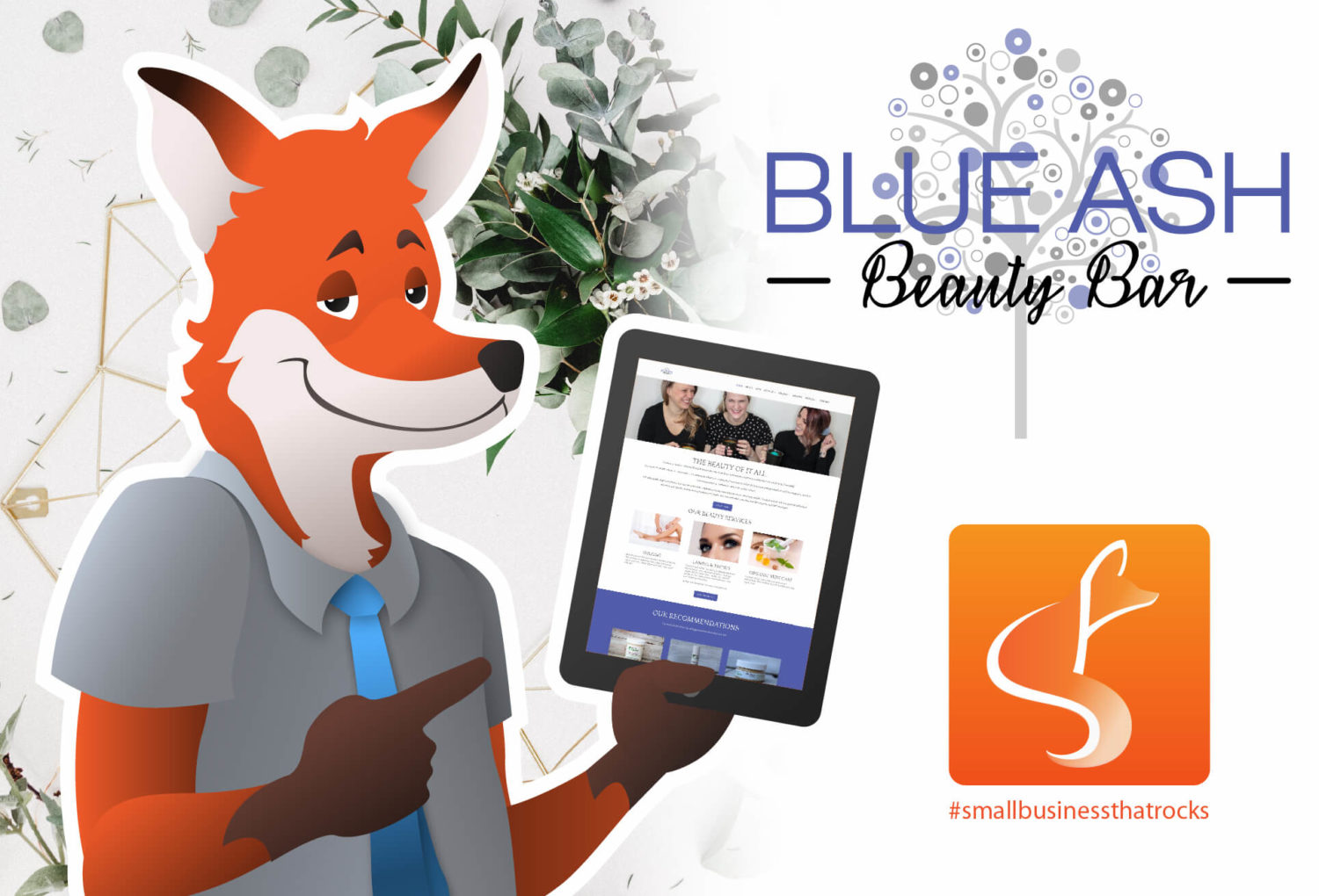 blueash beauty bar sly fox small business that rocks poster
